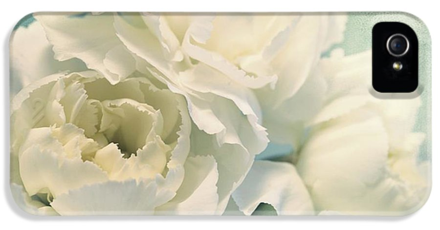 Carnation IPhone 5 Case featuring the photograph Tenderly by Priska Wettstein