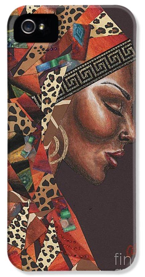 Animal Print IPhone 5 Case featuring the mixed media Thank You Angela by Alga Washington