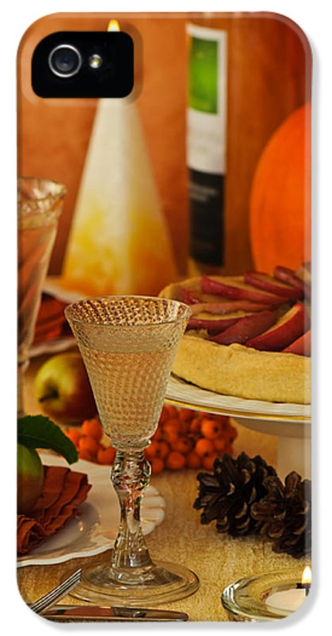 Thanksgiving IPhone 5 Case featuring the photograph Thanksgiving Table by Amanda Elwell