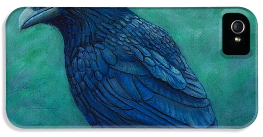 Raven IPhone 5 Case featuring the painting The Ancient One by Brian Commerford