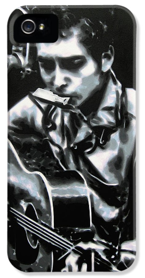 Ludzska IPhone 5 Case featuring the painting The Answer My Friend Is Blowin In The Wind by Luis Ludzska