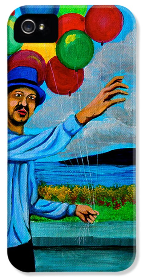 Balloon IPhone 5 Case featuring the painting The Balloon Vendor by Cyril Maza