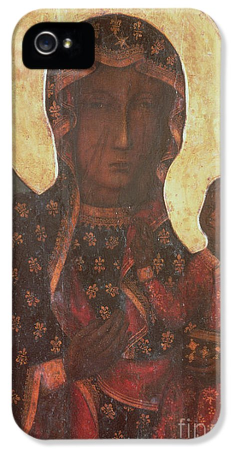 The IPhone 5 Case featuring the painting The Black Madonna Of Jasna Gora by Russian School