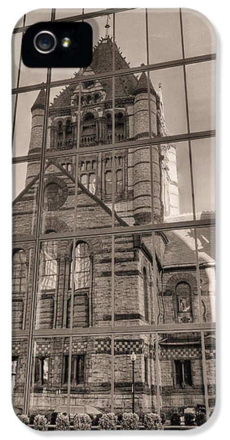 Boston Massachusetts IPhone 5 Case featuring the photograph The Church by JC Findley