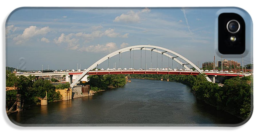 Nashville Photos IPhone 5 Case featuring the photograph The Cumberland River In Nashville by Susanne Van Hulst