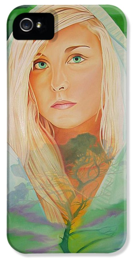 Beautiful Woman IPhone 5 / 5s Case featuring the painting The Dreaming Tree by Joshua Morton
