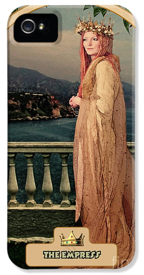Magic IPhone 5 Case featuring the digital art The Empress by John Edwards