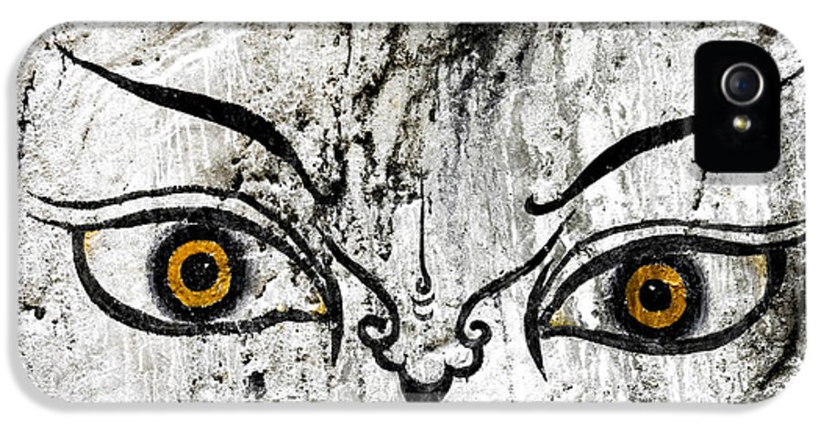 Bhutan IPhone 5 Case featuring the photograph The Eyes Of Guru Rimpoche by Fabrizio Troiani