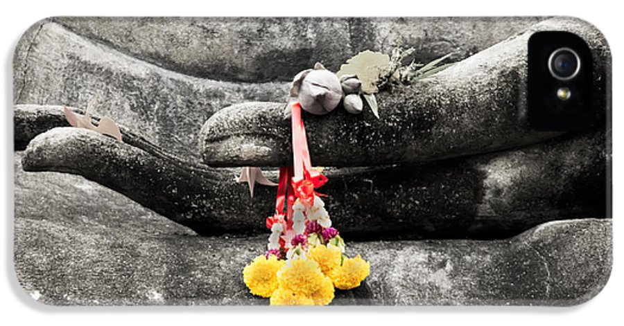 Buddha IPhone 5 Case featuring the photograph The Hand Of Buddha by Adrian Evans