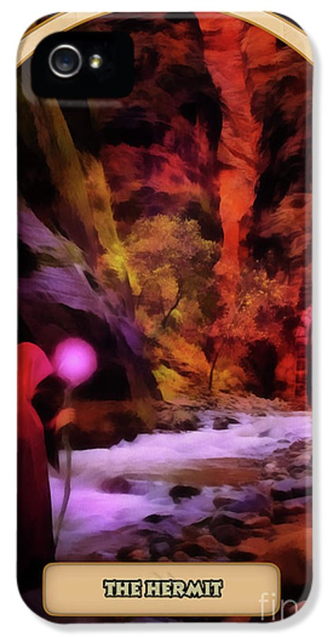 Magic IPhone 5 Case featuring the digital art The Hermit by John Edwards