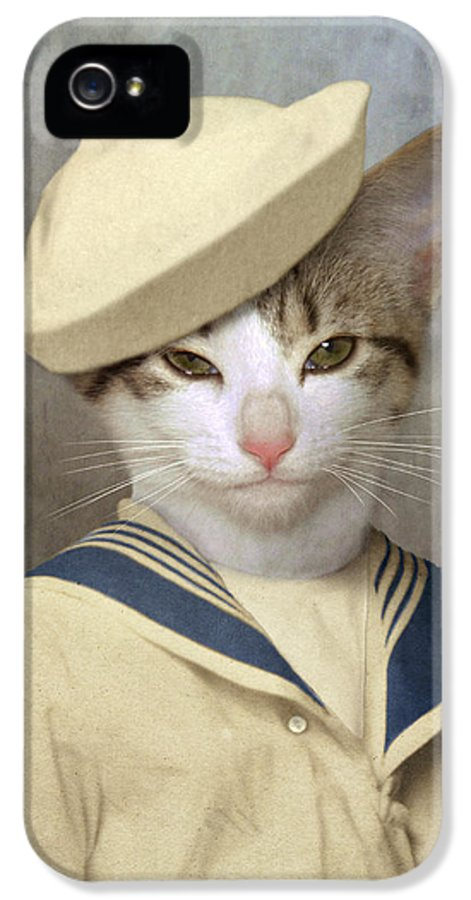 Cat IPhone 5 Case featuring the photograph The Little Rascal by Martine Roch