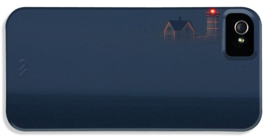 Atlantic Ocean IPhone 5 Case featuring the photograph The Nubble At Night by Lori Deiter