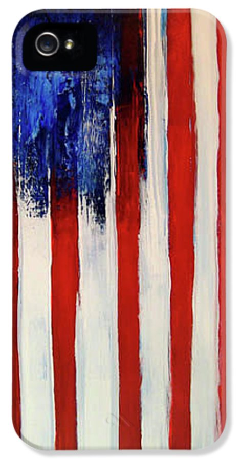 Flag IPhone 5 Case featuring the painting The Ogden Flag by Charles Jos Biviano