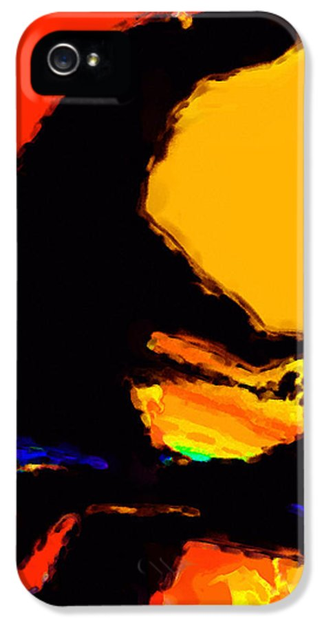 Abstract IPhone 5 Case featuring the digital art The Pianist by Richard Rizzo