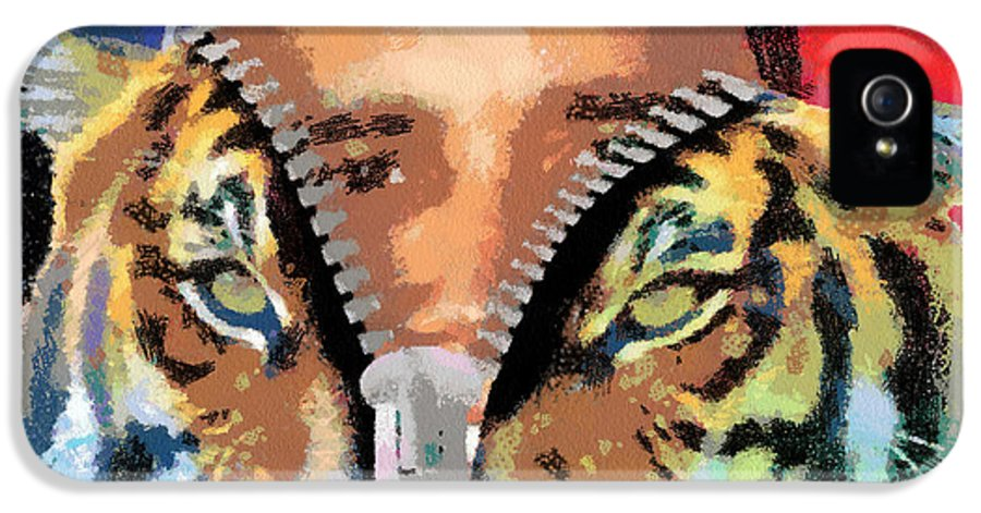 President IPhone 5 Case featuring the digital art The Prez by Anthony Caruso