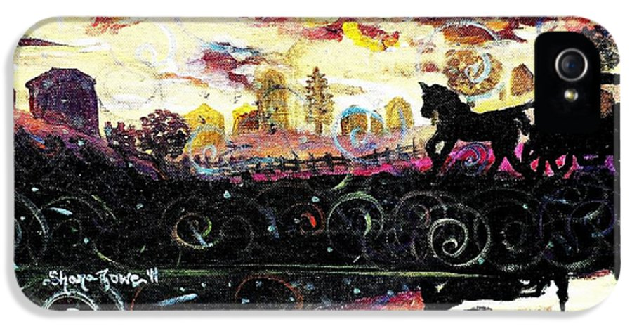 Horse And Buggy IPhone 5 Case featuring the painting The Road To Home by Shana Rowe Jackson