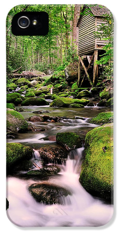 Roaring Fork IPhone 5 Case featuring the photograph The Roaring Fork And Reagan's Mill by Thomas Schoeller