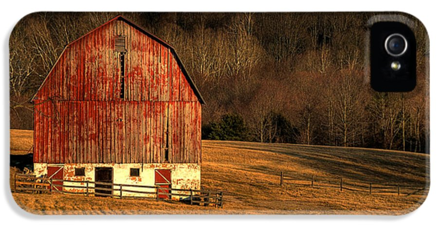 Barn IPhone 5 Case featuring the photograph The Simple Life by Lois Bryan