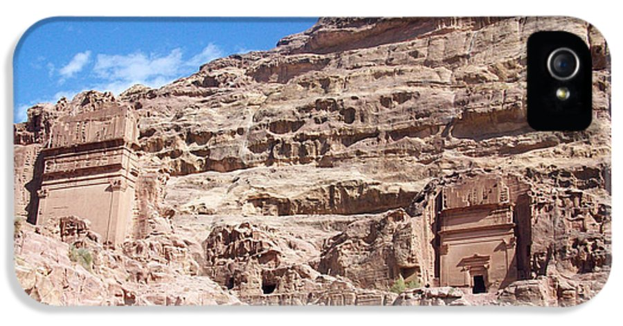 Petra IPhone 5 Case featuring the photograph The Stone City by Munir Alawi