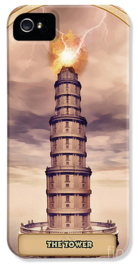 Magic IPhone 5 Case featuring the digital art The Tower by John Edwards
