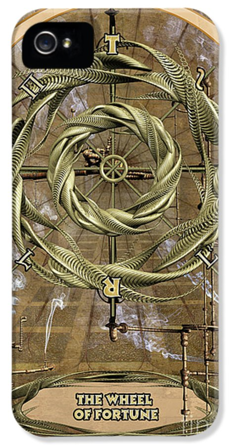 Magic IPhone 5 Case featuring the digital art The Wheel Of Fortune by John Edwards