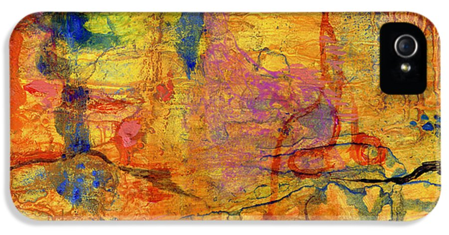 Film IPhone 5 Case featuring the painting Thick Film Birefringence by Regina Valluzzi