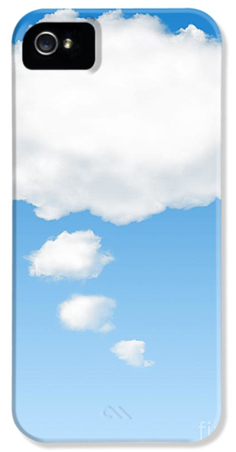 Background IPhone 5 / 5s Case featuring the photograph Thinking Cloud by Carlos Caetano