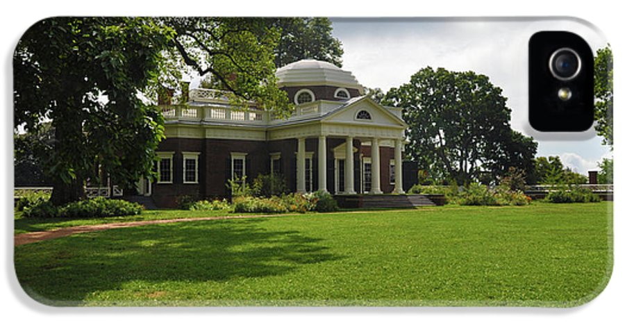 Thomas Jefferson IPhone 5 Case featuring the photograph Thomas Jefferson's Monticello by Bill Cannon