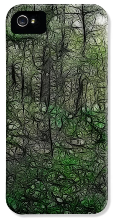 Thoreau IPhone 5 Case featuring the photograph Thoreau Woods Fractal by Lawrence Christopher