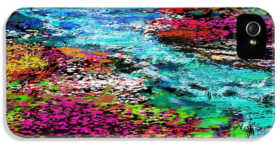 Abstract IPhone 5 Case featuring the digital art Thought Upon A Stream by David Lane