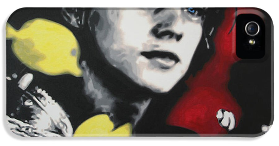 Epic Romantic Disaster Film IPhone 5 Case featuring the painting Titanic 2013 by Luis Ludzska