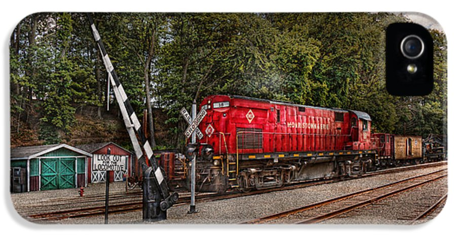 Train IPhone 5 Case featuring the photograph Train - Diesel - Look Out For The Locomotive by Mike Savad
