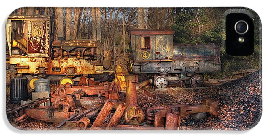 Savad IPhone 5 Case featuring the photograph Train - Yard - Do It Yourself Kit by Mike Savad