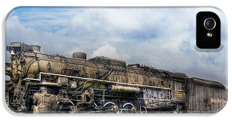 Savad IPhone 5 Case featuring the photograph Train - Engine - Nickel Plate Road by Mike Savad