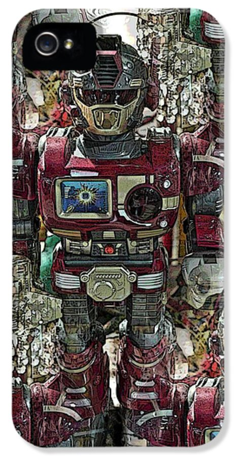 Robot IPhone 5 Case featuring the photograph Transformique For Sale by Gwyn Newcombe
