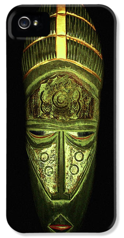 Mask IPhone 5 Case featuring the photograph Tribal Mask by David Dehner