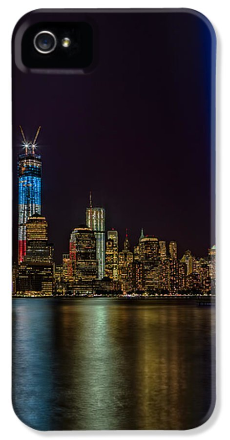 Tribute In Lights IPhone 5 Case featuring the photograph Tribute In Lights Memorial by Susan Candelario
