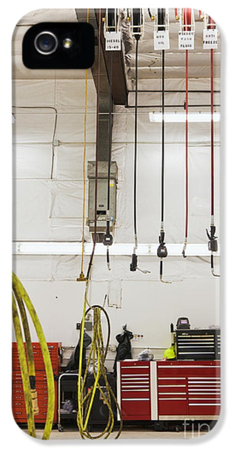 Auto IPhone 5 Case featuring the photograph Truck Repair Shop by Don Mason