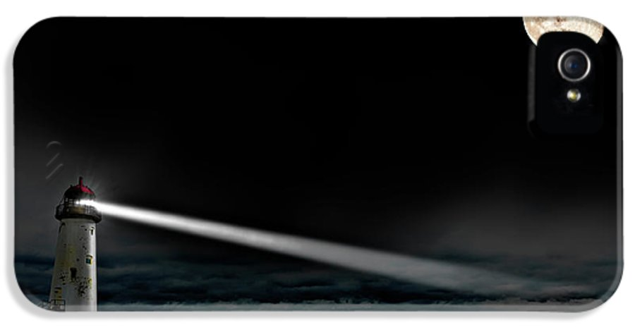Lighthouse IPhone 5 / 5s Case featuring the photograph Two Guiding Lights by Meirion Matthias