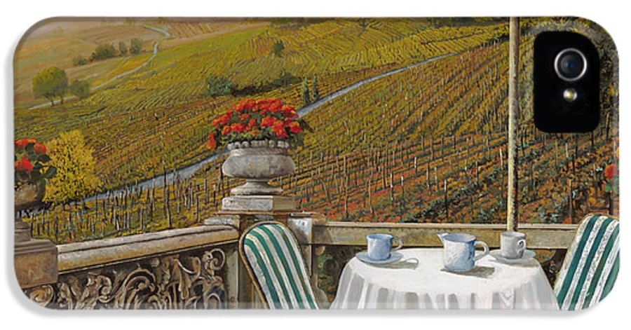 Vineyard IPhone 5 Case featuring the painting Un Caffe by Guido Borelli