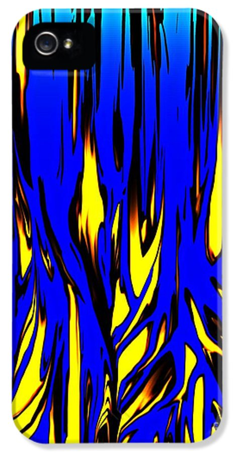 Abstract IPhone 5 Case featuring the digital art Untitled 7-21-09 by David Lane