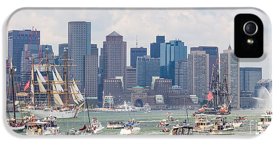 4th Of July IPhone 5 Case featuring the photograph Uss Constitution Boston Cruise by Susan Cole Kelly