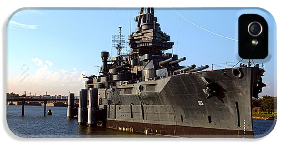 Joshua House Photography IPhone 5 Case featuring the photograph Uss Texas by Joshua House