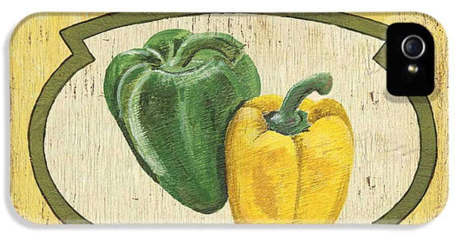 Food IPhone 5 Case featuring the painting Veggie Seed Pack 2 by Debbie DeWitt