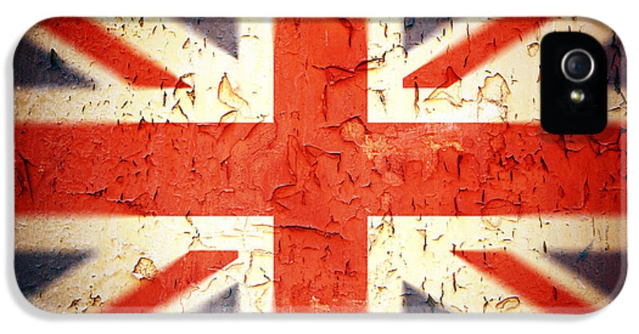 Aged IPhone 5 / 5s Case featuring the photograph Vintage Union Jack by Jane Rix