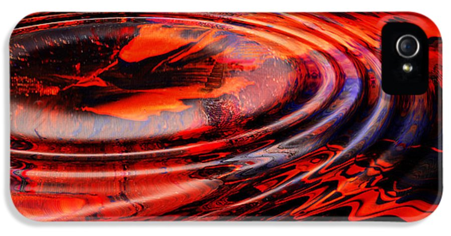 Abstract Reds IPhone 5 Case featuring the digital art Vortex by Patricia Motley