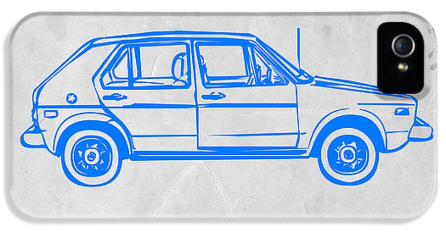 IPhone 5 Case featuring the drawing Vw Golf by Naxart Studio