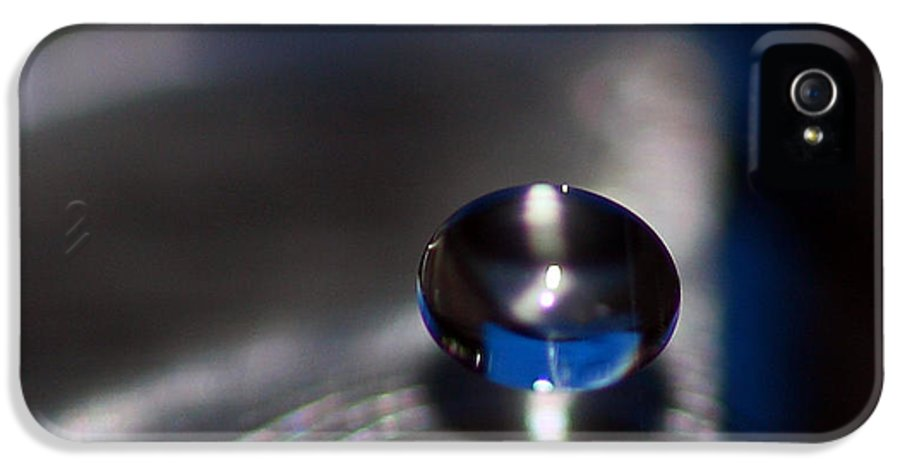 Macro Water Drop IPhone 5 Case featuring the photograph Wait by Rebecca Cozart