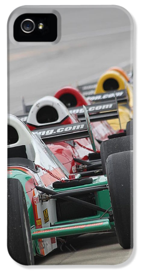 Indy Car IPhone 5 Case featuring the photograph Waiting To Run by Lauri Novak