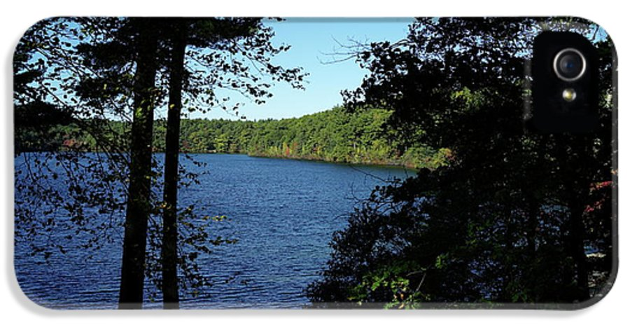 Walden IPhone 5 Case featuring the photograph Walden Pond End Of Summer by Lawrence Christopher